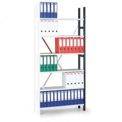 Regał archiwalny Variant, 2550x1000x300 mm, ocynkowane półki, dodatkowy