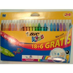 Flamastry KIDS Couleur 18+6 kolorów BIC