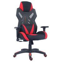 Fotele dla graczy, Fotel gamingowy Unique DYNAMIQ V17 czarny-czerwony