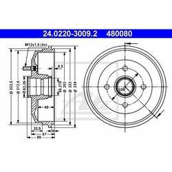BĘBEN HAM ATE 24.0220-3009.2 FORD ESCORT VII 1.3, 1.4, 1.6 16V 95-98