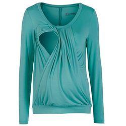 Shirt ciążowy i do karmienia piersią, do noszenia również po porodzie bonprix matowy turkusowy