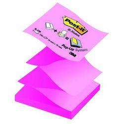 Bloczek samop. POST-IT® Z-Notes (R330-NA), 76x76mm, 100 kart., jaskrawy żółto-różowy