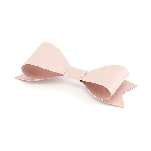 Dekoracje sali weselnej, Kokardy papierowe różowe - 18 cm - 6 szt.
