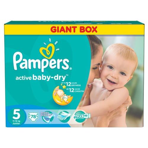 Pampers Active Baby 5 Junior 11 18kg 78 Szt Giant Box