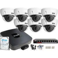 Zestawy monitoringowe, 7x BCS-DMIP3201IR-E-V BCS BCS-NVR08015ME-II zestaw monitoringu Dysk 1TB Akcesoria