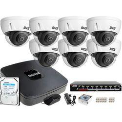 7x BCS-DMIP3201IR-E-V BCS BCS-NVR08015ME-II zestaw monitoringu Dysk 1TB Akcesoria