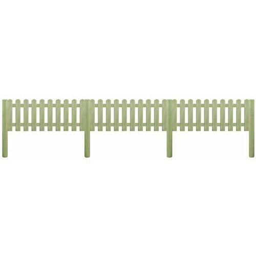 Przęsła i elementy ogrodzenia, vidaXL Panel ogrodzeniowy, impregnowana sosna, 5,1 m x 110 cm, 6/9 cm Darmowa wysyłka i zwroty