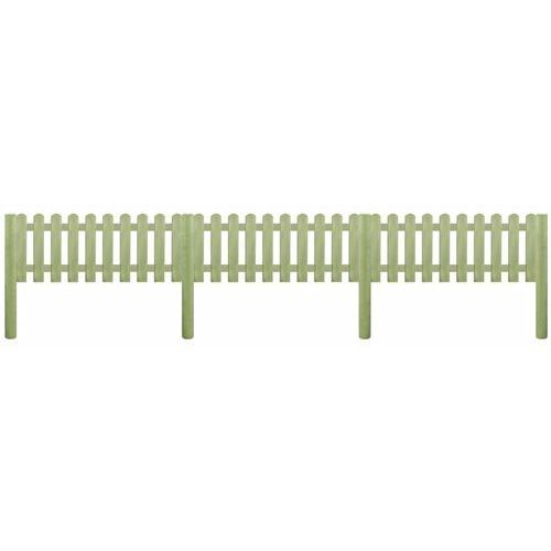Przęsła i elementy ogrodzenia, vidaXL Panel ogrodzeniowy, impregnowana sosna, 5,1 m x 110 cm, 6/9 cm