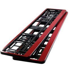 Ramki pod tablicę rejestracyjną HP Czerwone 2 szt - Czerwone