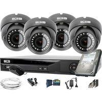 Zestawy monitoringowe, 4x BCS-B-DK42812 2560×1440 4MPx BCS Basic zestaw do monitoringu Dysk 1TB Akcesoria