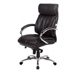 Fotel TENACE BLACK LEATHER CHROME Baldu Visata