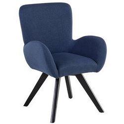 Fotel granatowy - wypoczynkowy - do salonu - tapicerowany - BJARN