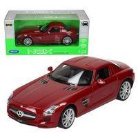 Osobowe dla dzieci, WELLY Mercedes-Benz SLS AMG, czerwony
