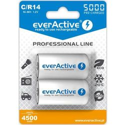 Akumulatorki EVERACTIVE Ni-MH R14 C 5000 mAh Professional Line (2 szt.)