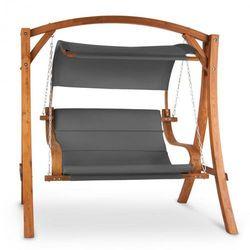 Blumfeldt Maui, huśtawka Hollywoodzka, 110 cm, 2 miejsca, lite drewno, poliester, ciemnoszara