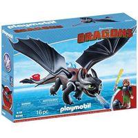 Klocki dla dzieci, Playmobil DRAGONS Czkawka i szczerbatek 9246