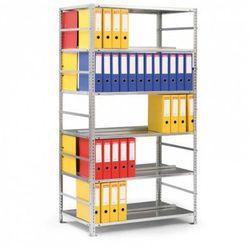 Regał na segregatory COMPACT, 6 półek, 1850x1250x600 mm, ocynk, podstawowy
