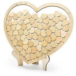 Drewniana księga gości weselnych Serce