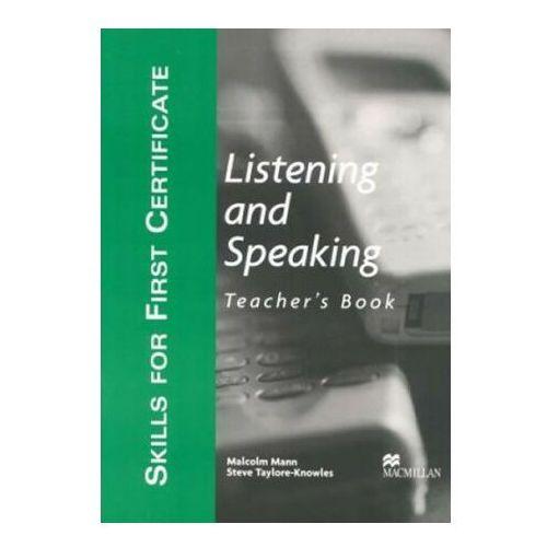 Książki do nauki języka, Skills For First Certificate. Listening And Speaking. Książka Nauczyciela (opr. miękka)