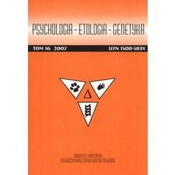 Psychologia etologia genetyka Tom 13/2006 - Praca zbiorowa (opr. miękka)