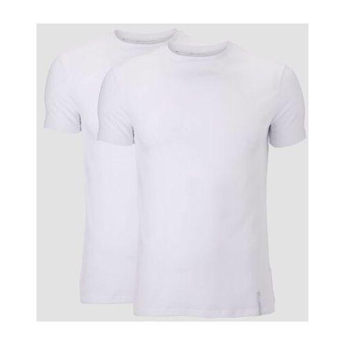 Pozostała moda, 2-Pak Klasycznych Koszulek Luxe - Biała/Biała - L