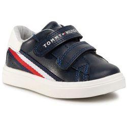Sneakersy TOMMY HILFIGER - Low Cut Velcro Sneaker T1B4-30699-0621 Blue/White X007
