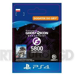 Tom Clancy's Ghost Recon: Breakpoint 5800 Ghost Coins [kod aktywacyjny] PS4