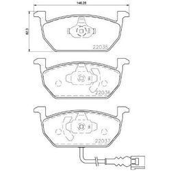 Zestaw klocków hamulcowych, hamulce tarczowe BREMBO P 85 137
