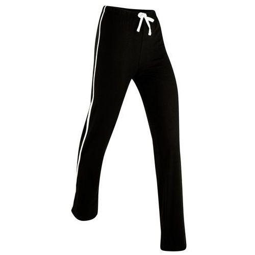 Pozostała odzież sportowa, Spodnie shirtowe ze stretchem, długie, Level 1 bonprix czarny