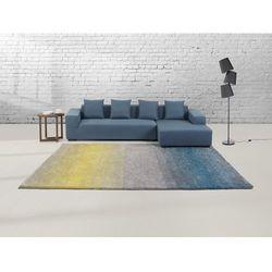 Dywan szaro-niebiesko-żółty - 80x150 cm - Shaggy - poliester - DINAR