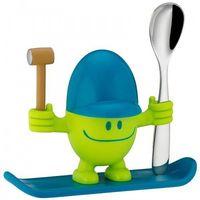 Sztućce dla dzieci, WMF - Kieliszek na jajko z łyżeczką McEgg, zielony