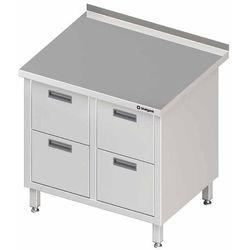 Stół przyścienny z blokiem czterech szuflad 840x700x850 mm | STALGAST, 980227840