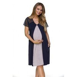 Koszula ciążowa lupoline 3119 s-xl rozmiar: s/m, kolor: granatowy, lupo
