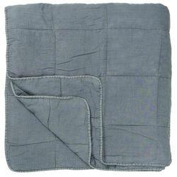 Ib Laursen - Podwójna narzuta na łóżko w kolorze przygaszony niebieski