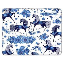 Apple iPad Air (2019) - etui na tablet Flex Book Fantastic - folkowe niebieskie konie