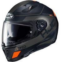 Kaski motocyklowe, HJC i70 KASK integralny KARON BLACK/GREY z pinlockiem