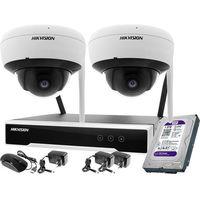 Zestawy monitoringowe, ZM11992 2 kamerowy zestaw monitoringu wifi Hikvision 4MPx 1TB