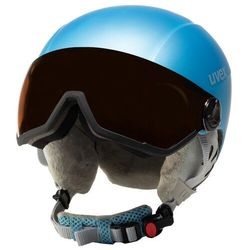 Kask narciarski UVEX - Hlmt 400 Visor Style 5662159205 Cloudy Blue Mat