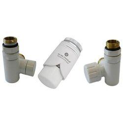 Zestaw zaworów Schlosser przystosowany do montażu grzałki elektrycznej Biały prawy Rodzaj złączki: Pex 16x2