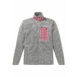 Bluza rozpinana z polaru w ludowym stylu bonprix jasnoszary melanż
