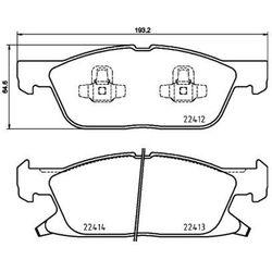 Zestaw klocków hamulcowych, hamulce tarczowe TEXTAR 2241201