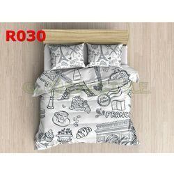 Pościel 3 D bawełna100% 160 x200 +2 poduszki 70x80 R030