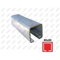 Przęsła i elementy ogrodzenia, Profil do bramy przesuwnej Zn, 78x78x4mm, L6m