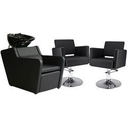 Zestaw Mebli Fryzjerskich - Myjnia Perfect + 2 Fotele Premium Dysk