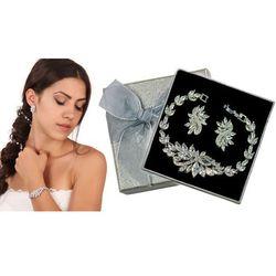Kpl860 komplet ślubny, biżuteria ślubna z cyrkoniami k599/564 b655/31