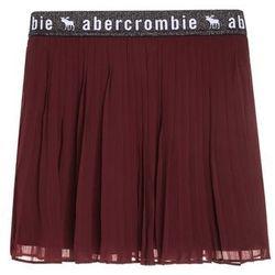 Abercrombie & Fitch ELASTIC PLEATED Spódnica plisowana windsor wine burgundy