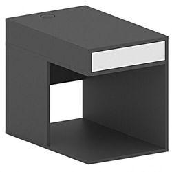 Kontener na komputer do stołów FUTURE z przegrodą, biały/grafitowy