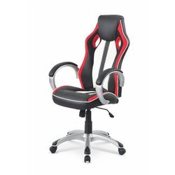 Control fotel gamingowy dla graczy czarno-biało-czerwony