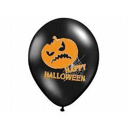 Balony czarne na Halloween - Dynie - 37 cm - 50 szt.