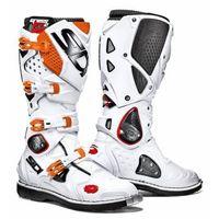 Buty motocyklowe, Buty Enduro Cross SIDI CROSSFIRE 2 Biało-Pomarańczowe